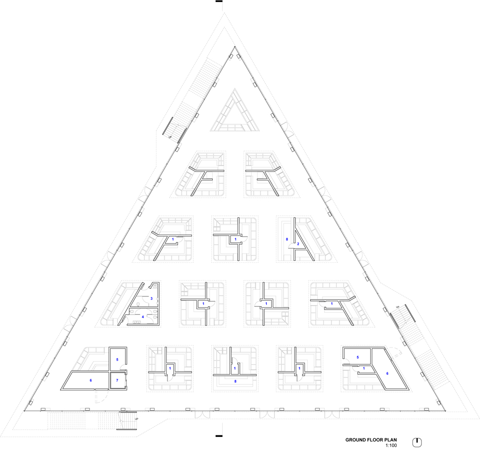 Floorplan of market proposal.