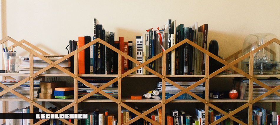book shelf, hexagonal weaving